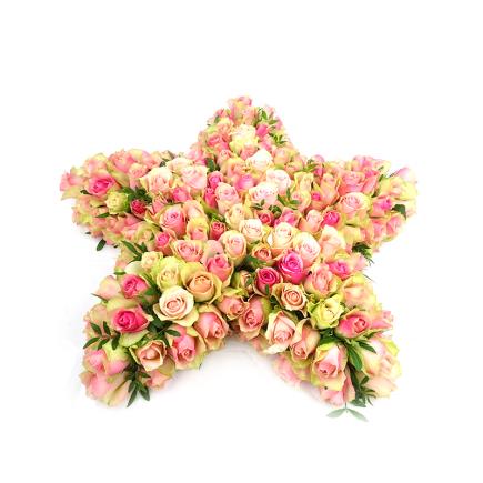 Duoplant - Bijzonder rouwstuk in stervorm (61)