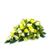Duoplant - Druppelvormig rouwstuk met witte rozen
