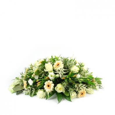 Duoplant - Ovaal rouwstuk in zachte kleuren