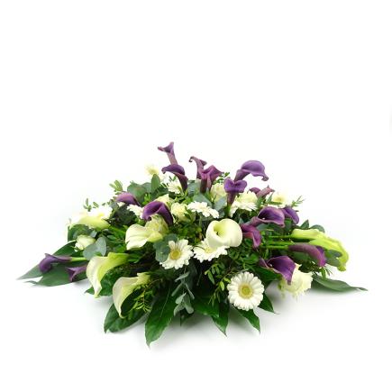 Creatief rouwstuk met Zantedeschia / Calla - Duoplant