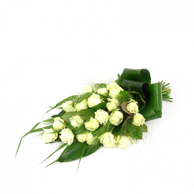 Rouwboeket witte rozen _ Duoplant