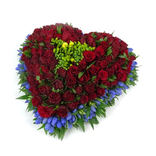 Duoplant - rouwstuk hartvorm (42)