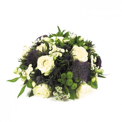 Rouwstuk in lila en wit van Duoplant