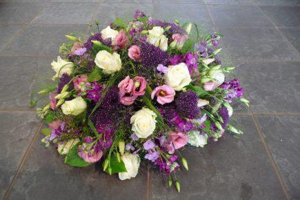 Biedermeier rouwstuk in gemengde kleuren - Duoplant