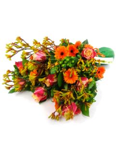 Rouwboeket in oranje - Duoplant