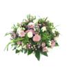 Duoplant - Biedermeier rouwstuk met roze en witte tinten