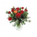 Valentijnboeket met rode rozen - Duoplant