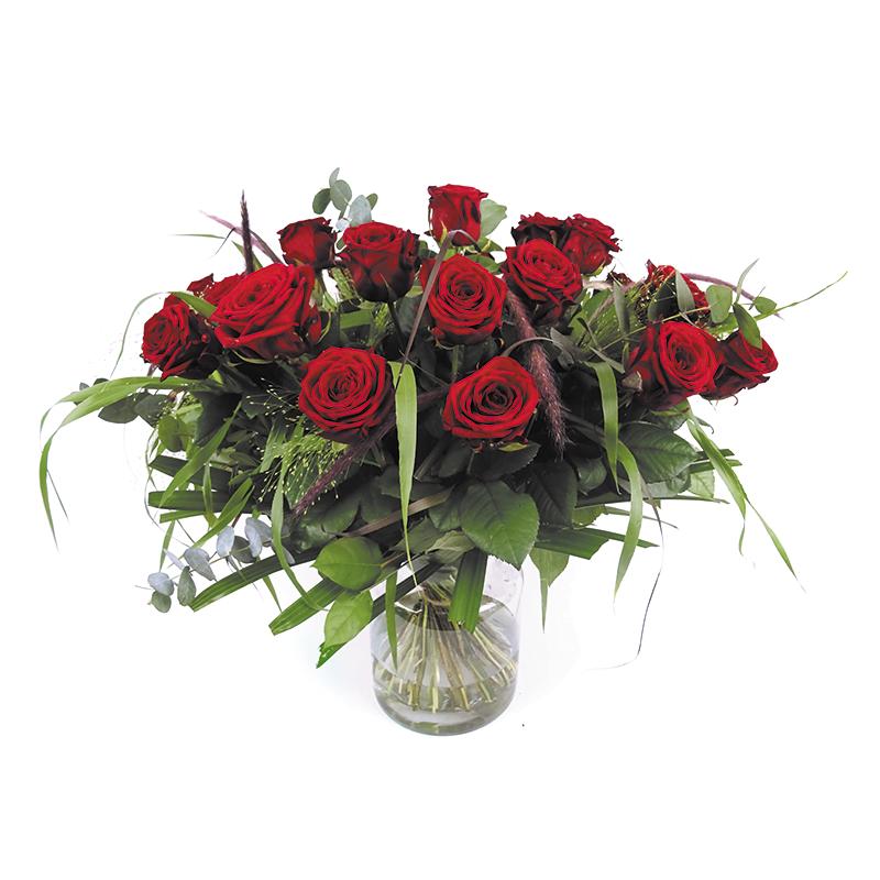 Duoplant boeket rode rozen