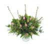 Duoplant - Tulpen roze in boeket met Kersebloesem