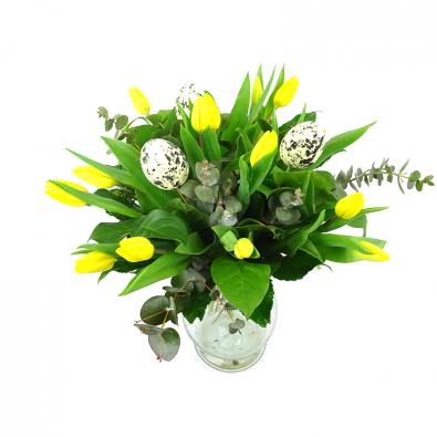 Duoplant - Duoplant - Easter Tulps Yellow paasboeket