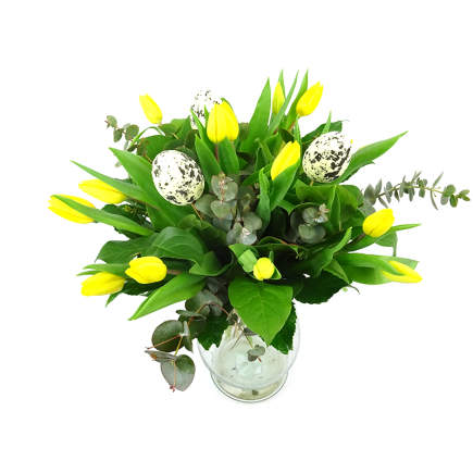 Duoplant - Duoplant - Easter Tulps Yellow paasboeket
