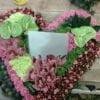 Persoonlijk rouwstuk - hart met foto