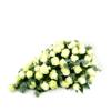 Duoplant - rowustuk druppelvorm Druppel met witte rozen en eucalyptus