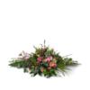 Duoplant ovaalvormig rouwstuk - voorjaar