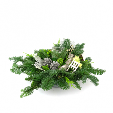 Duoplant - Christmas Zink kerststukje