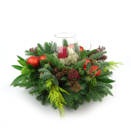 Duoplant - Kerststuk Round Christmas rond