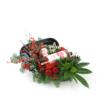 Duoplant - Kerststuk met rose