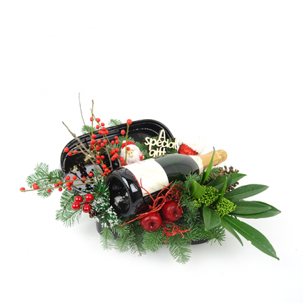 Duoplant - kerstuk in geschenkdoos