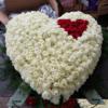 Persoonlijk rouwstuk hart met rozen